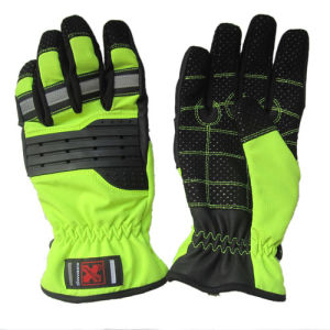 New Design Professional Mechanical Reflective Back Safety Working Gloves pictures & photos
