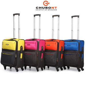 China Chubont Yellow Color 4 Wheels Fashion Suitcase for Travel pictures & photos