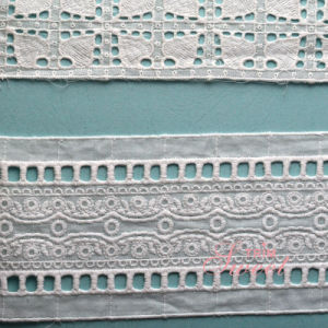 Professional QC Team Hot Sell White Pakistani Embroidery Laces pictures & photos