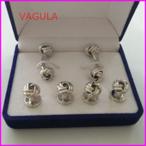 VAGULA New Quality Knot Cufflinks Collar Studs Buttons Hl161283 pictures & photos