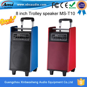 portable speakers on wheels. high quality active (powered) portable speakers with wheels and handle on