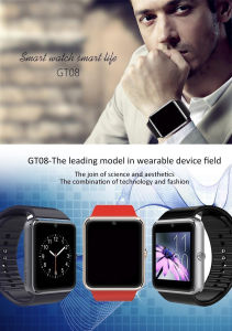 "1.54"" Sport Digital Smart Q7s Gv08 GM08 Gt08 Gu08 A1 Automatic Bluetooth Camera Watch with 2g SIM Card Phone"