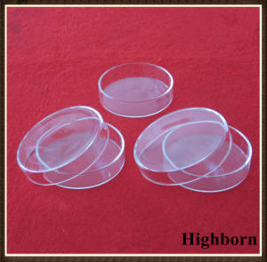 Clear Round Bottom Silica Quartz Glass Petri Dish with Cover pictures & photos