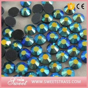12 Faceted Flat Back Crystal Loose Beads for Motif Making pictures & photos