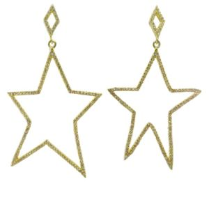 Big Pentagram Shape and Hot Selling 925 Silver Jewelry Rose Gold Plated Earring E6700 pictures & photos