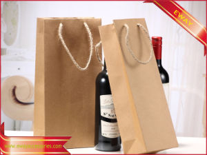 Wine Bag Kraft Paper Gift Promotional Bag pictures & photos