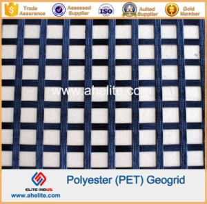 Polyester Geogrid Coated with Asphalt Bitument PVC SBR pictures & photos