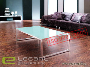 Hot Glass Coffee Table with Metal Frame pictures & photos