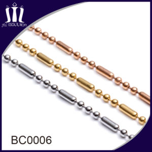 Latest Fancy Long Stainless Steel Gold Ball Bead Chains Necklace pictures & photos