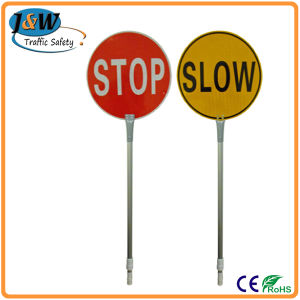 Reflective 450mm Stop / Slow Bat Road Traffic Sign pictures & photos