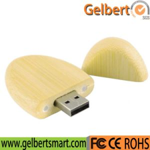 Promotional Round Shape Wood USB 2.0 Flash Disk pictures & photos