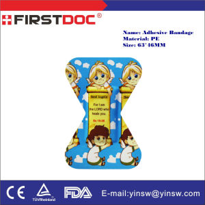 Medical Supply Cartoon Fingertip Adhesive Strips 63X46mm PE Adhesive Bandages