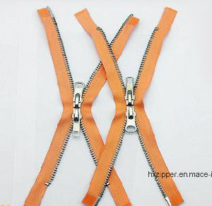 5# Open-End Metal Zipper with Auto-Lock Zipper Sliders