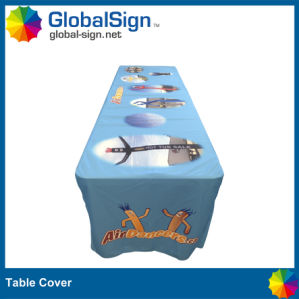 100% Polyester Table Covers with Full Color Printed pictures & photos