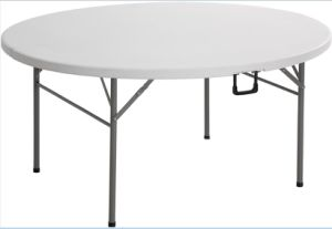 5FT/154cm High Quality Plastic Folding in Half Table pictures & photos