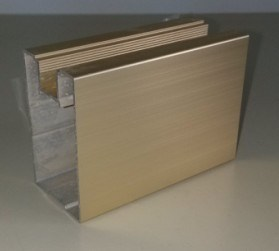 Spray Golden Aluminium Profile for Door Frame Material pictures & photos
