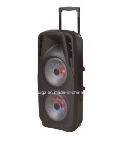 "2X 10"" Inch Subwoofer Outdoor Speaker with Bluetooth LED Light for Party F73D pictures & photos"