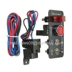 Vans Ignition Switch Panel DC12V LED Carbon Fibre Toggle Engine Start Push Button 12V Power Toggle Switch for Car Truck Racing pictures & photos