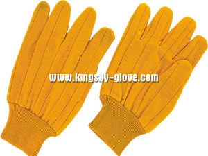 Heat Resistant Knit Wrist Cotton Working Glove -2108 pictures & photos