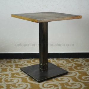 Square Vintage Distressed Solid Wood Restaurant Table (SP-RT467) pictures & photos