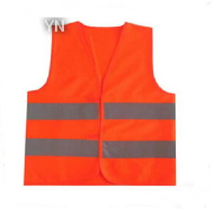 Reflective Safety Workwear Vest with High Luster Reflective Ribbon pictures & photos