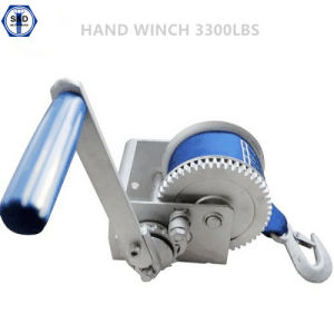3300lbs Hand Winch with Cable pictures & photos