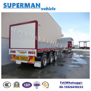 Europe Kind Flatbed Cargo Semi Truck Trailer pictures & photos