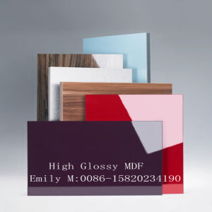 1220*2440*18mm White UV MDF Board for Kitchen Cabinet Door (ZH-977) pictures & photos