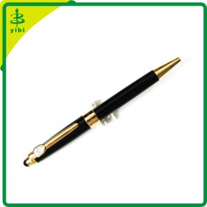 Promotiona Advertising Black Metal Ball Point Pen Stationery or Office Supplies (Hch-R127)