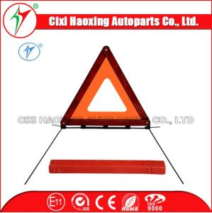 Car Using Roadway Safety Tools Warning Triangel