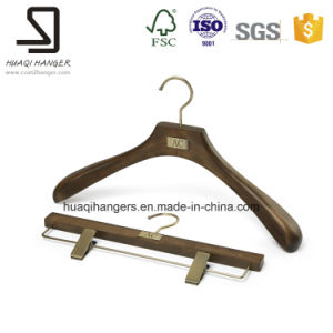 Beech Wood Hangers, Luxury Clothes Pants Hangers pictures & photos
