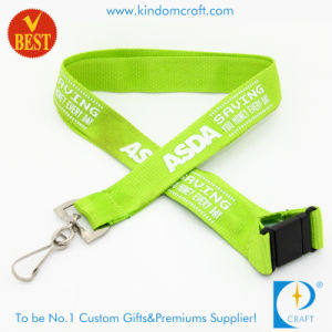 China Custom Flat Polyester Screen Printed Neck Lanyard pictures & photos