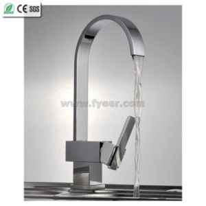 Oblate Goose Neck Kitchen Sink Water Mixer Faucet (QH0721) pictures & photos