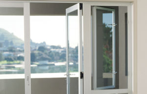 High Quality Handcrafted Tempered Glass Aluminium Balcony Doors pictures & photos