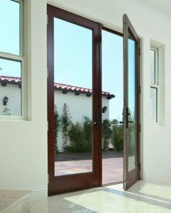 High Quality Guarantee Tempered Glass Hinged Aluminium Door pictures & photos