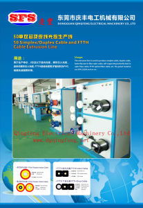Simplex / Duplex Optical Fiber Cable and FTTH Optical Fiber Cable Extrusion Line pictures & photos