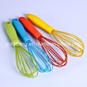 Non-Stick FDA Standard Kitchenware Silicone Egg Whisk Within Stainless pictures & photos