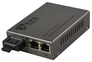 Fiber Media Switch with 2 UTP Ports