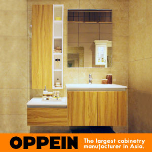 Oppein Classic Acrylic Top Walnut Bathroom Cabinets (OP15-050B) pictures & photos