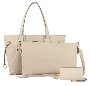 2015 Classic Fashion Set Bags Woven Embossed Designer Handbag (XM006) pictures & photos