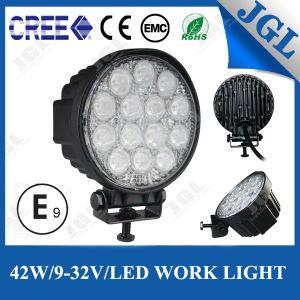 Waterproof Truck Trailer Round LED Work Lamp 42W