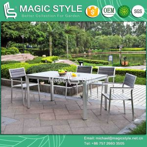 Outdoor Dining Set Dining Chair Aluminum Wire Drawing Chair Aluminum Chair Aluminum Drawing Chair Garden Furniture Patio Furniture Poly-Wood Chair (Magic Style) pictures & photos