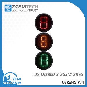 1 Digital Countdown Timer 3 Colors Red Yellow Green Traffic Signal Light for Replacement Dia. 300mm