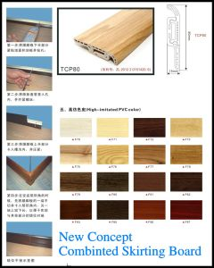 Ck New Concept Cobinted Click Installnation PVC Floor Decorative Skirting Board pictures & photos