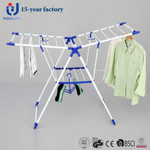 Powder Coated Metal Foldable Clothes Drying Rack pictures & photos