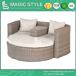 Rattan Daybed Wicker Daybed Balcony Sunbed Bench Daybed Double Sofa Leisure Daybed Outdoor Furniture Garden Furniture (Magic Style) pictures & photos