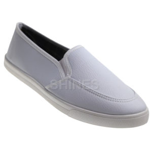 White PU Slip on Injection Shoes for Women pictures & photos