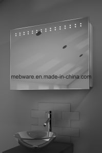 LED Corner Cabinet Mirror with Shaver Socket / Bathroom Mirror with Cabinet pictures & photos
