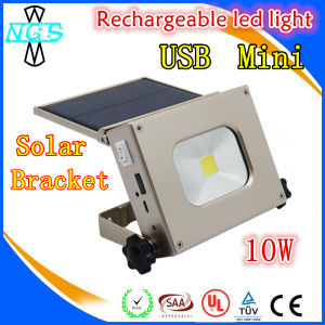 Solar lantern Rechargeable LED Flood Lamp with USB pictures & photos