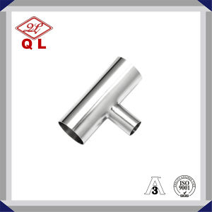 Food Grade 304/316L Sanitary Stainless Steel Welded Equal Tee pictures & photos